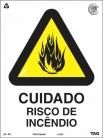 Placas Alerta A2 - Cuidado risco de incêndio