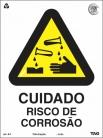 Placas Alerta A4 - Cuidado risco de corrosão