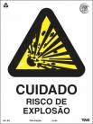 Placas Alerta A3 - Cuidado risco de explosão