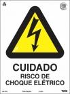 Placas Alerta A5 - Cuidado risco de Choque Eletrico