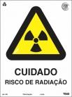 Placas Alerta A6 - Cuidado Risco de Radiação