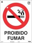 Placas Proibição P1 - Proibido Fumar