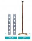 Kit Misturador Para Chuveiro Duplocomando - Dry Wall - Linha 4424.945 / 4424.965