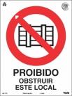 Placas Proibição P5 - Proibido Obstruir o Local
