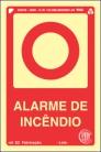 Placas Fotoluminescentes Equipamento - Alarme de Incêndio - E2