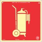 Placas Fotoluminescentes Equipamento - Extintor Carreta - E11