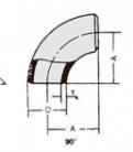 Curva Aço Carbono Schedule 40 - 90°